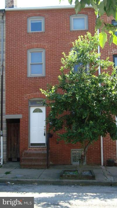 Fells Point Townhouse For Sale: 317 S. Wolfe Street