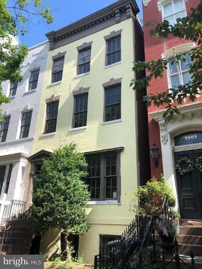 Georgetown Single Family Home For Sale: 2905 P Street NW