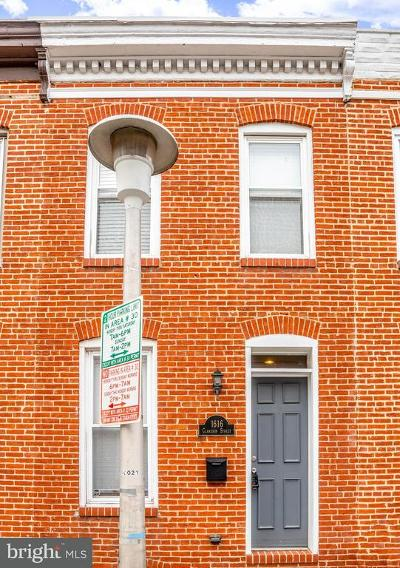 Federal Hill Townhouse For Sale: 1616 Clarkson Street