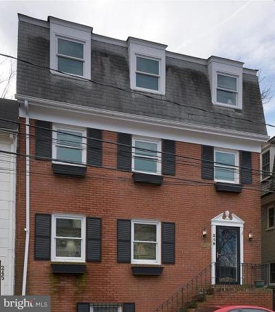 Annapolis Single Family Home For Sale: 249 Hanover Street