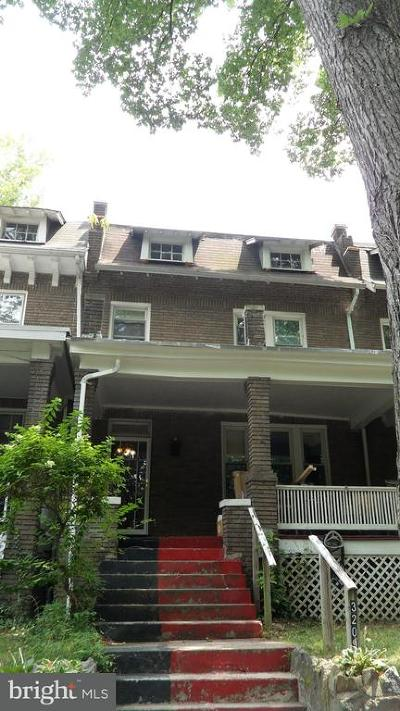 Washington Townhouse For Sale: 3209 Adams Mill Road NW