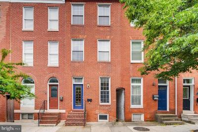 Federal Hill Townhouse For Sale: 1129 S Hanover Street