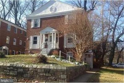 Silver Spring MD Single Family Home For Sale: $1,305