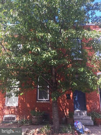 Baltimore Townhouse For Sale: 814 Glover Street