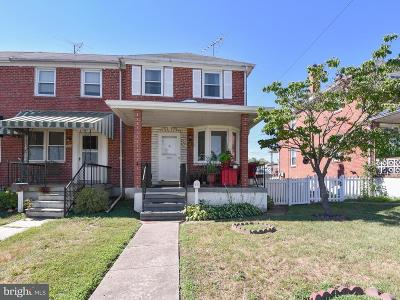 Baltimore Townhouse For Sale: 437 Oakwood Road