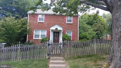 Silver Spring MD Single Family Home For Sale: $390,000