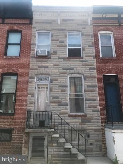 Baltimore Townhouse For Sale: 1433 Richardson Street