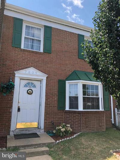 Manassas Townhouse For Sale: 7809 Point Court