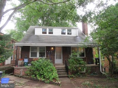 Takoma Park MD Single Family Home Active Under Contract: $519,000