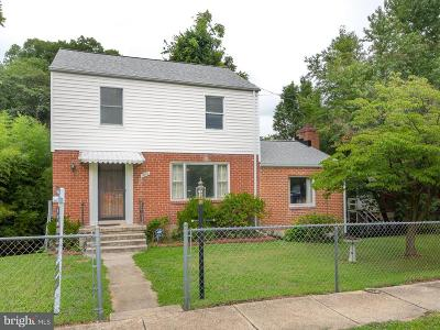 Takoma Park MD Single Family Home Active Under Contract: $329,900