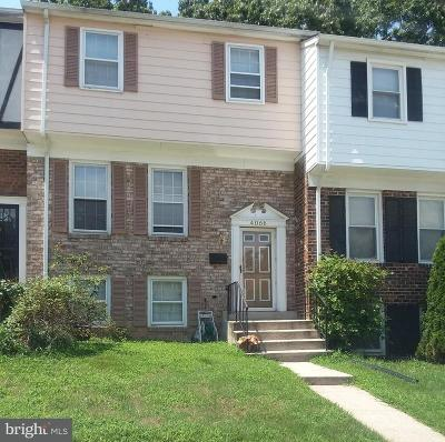 Hyattsville Townhouse For Sale: 4066 Hanson Oaks Drive