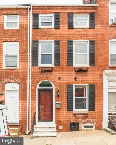 Upper Fells Point Townhouse For Sale: 1826 Lombard Street