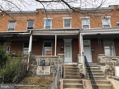 Baltimore Townhouse For Sale: 2608 Aisquith Street