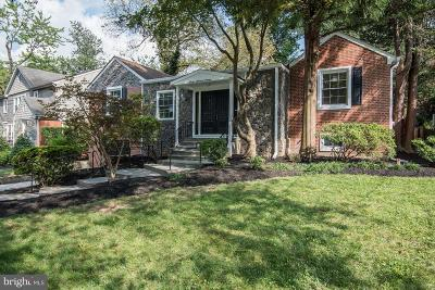 Chevy Chase Single Family Home For Sale: 7016 Greenvale Parkway