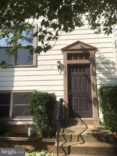 Manassas Townhouse For Sale: 7309 Rokeby Drive