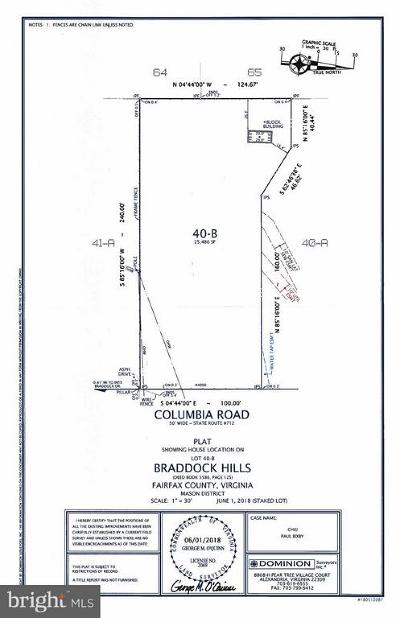 Annandale Residential Lots & Land Active Under Contract: 4900 Columbia Road