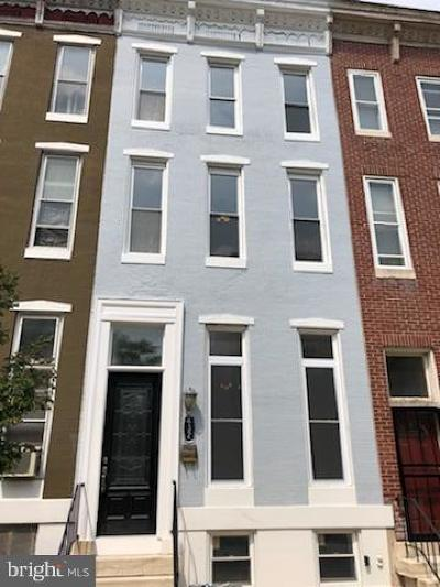 Baltimore City Townhouse For Sale: 432 Lafayette Avenue