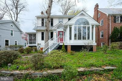 Chevy Chase Single Family Home For Sale: 4127 Woodbine Street