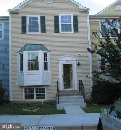 Gaithersburg Townhouse For Sale: 872 Bayridge Drive