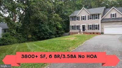 Stafford VA Single Family Home For Sale: $485,000