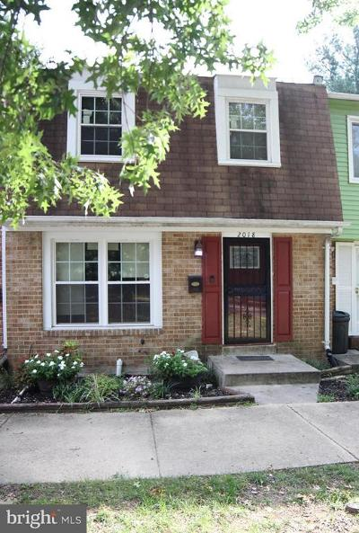 Temple Hills Townhouse For Sale: 2018 Chadwick Terrace