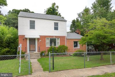 Takoma Park MD Single Family Home For Sale: $329,900
