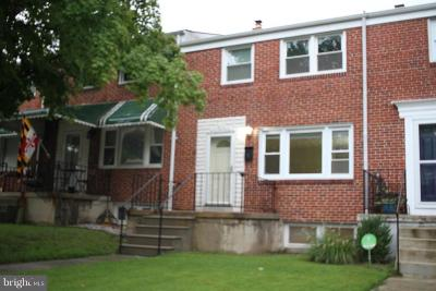 Baltimore Townhouse For Sale: 1108 Linden Avenue