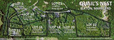 Elkton Residential Lots & Land For Sale: Lot 23 Sparrows Way
