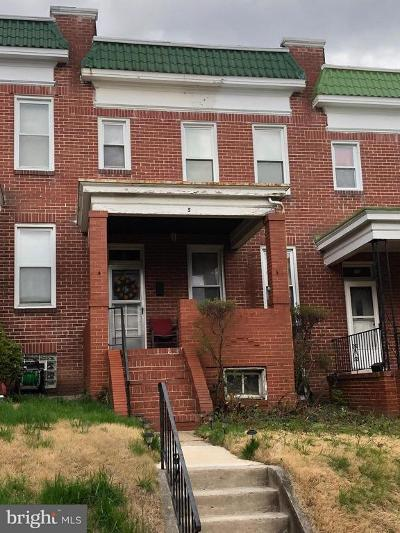 Baltimore MD Townhouse For Sale: $79,900