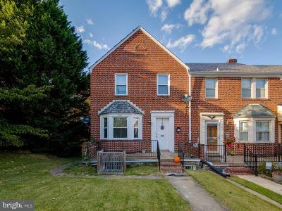 Catonsville Townhouse For Sale: 6340 Frederick Road
