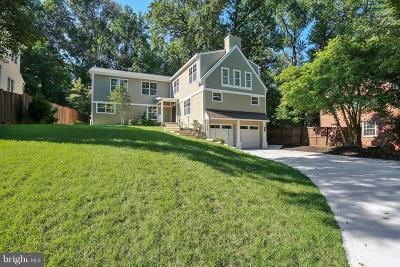 Chevy Chase Single Family Home For Sale: 3816 Inverness Drive