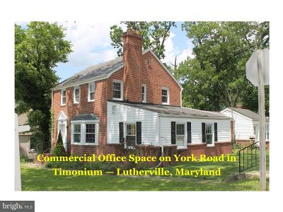 Lutherville Timonium Single Family Home For Sale: 1525 York Road