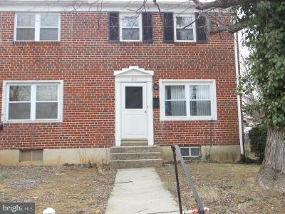 Baltimore Townhouse For Sale: 610 Gibson Road