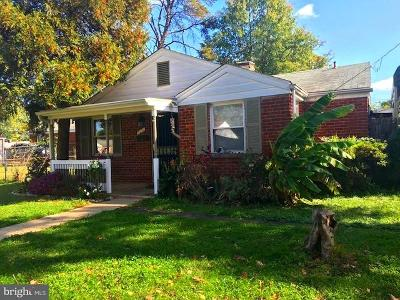 Hyattsville Single Family Home For Sale: 7611 24th Avenue