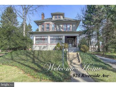 Trenton Single Family Home For Sale: 932 Riverside Avenue