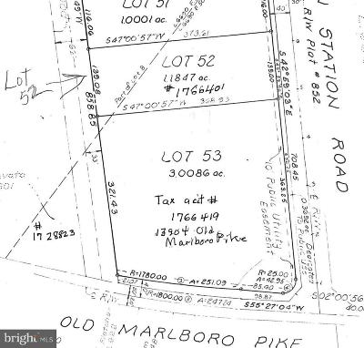 Upper Marlboro Residential Lots & Land For Sale: 5019 Brown Station Road