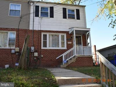 Silver Spring Townhouse For Sale: 12046 Claridge Road