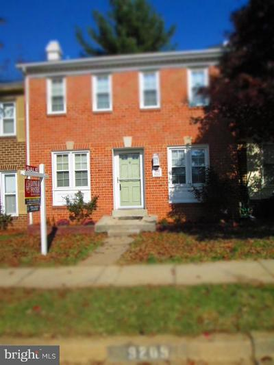 Montgomery County Townhouse For Sale: 9211 Hummingbird Terrace