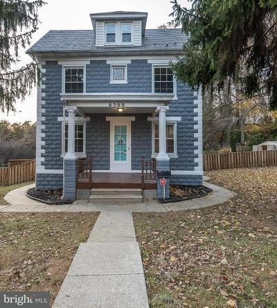 Overlea Single Family Home For Sale: 6508 Brook Avenue