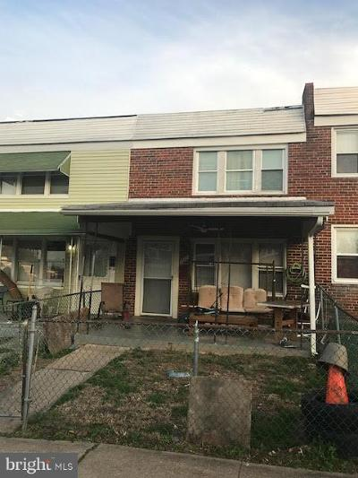 Baltimore MD Townhouse For Sale: $80,000