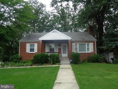 Temple Hills Single Family Home For Sale: 2414 Gaither Street
