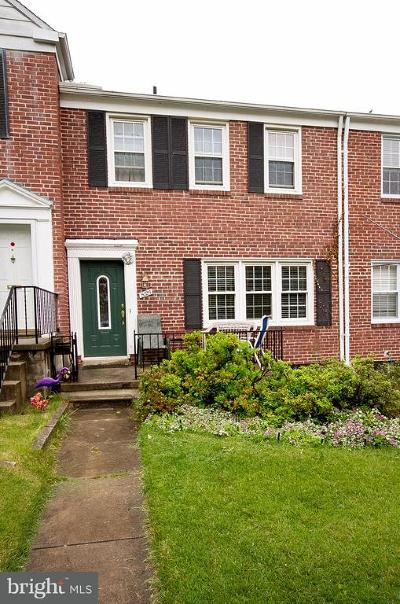 Towson Townhouse For Sale: 8125 Clyde Bank Road