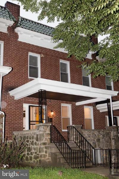 Baltimore Townhouse For Sale: 3114 Gwynns Falls Parkway