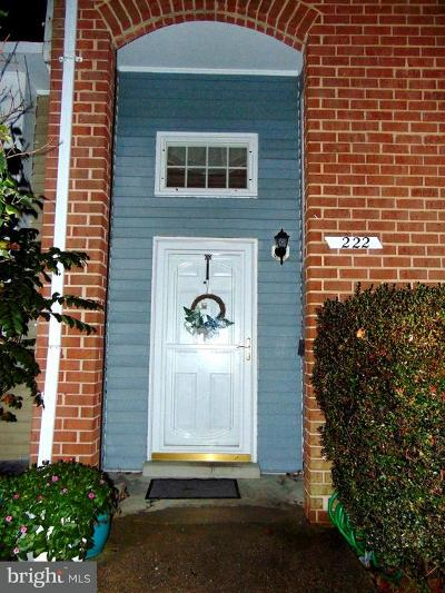 Upper Marlboro Townhouse For Sale: 222 Castleton Place