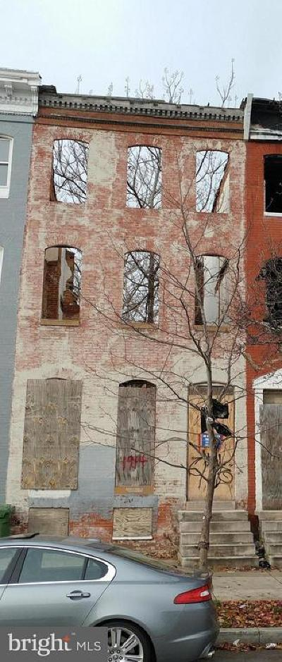 Baltimore MD Townhouse For Sale: $33,000