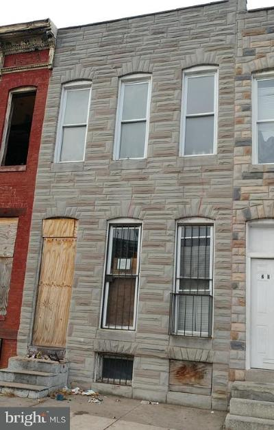 Baltimore MD Townhouse For Sale: $19,000