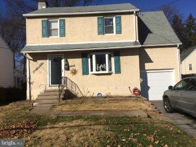 Abington Single Family Home For Sale: 1440 Arnold Avenue