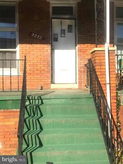 Baltimore MD Townhouse For Sale: $30,000