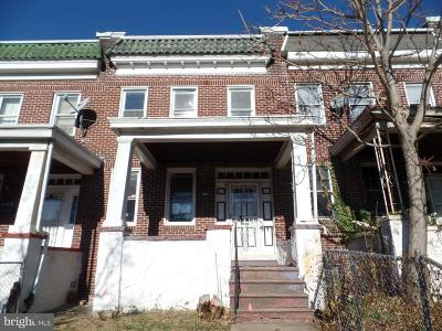 Baltimore MD Single Family Home Under Contract: $5,000