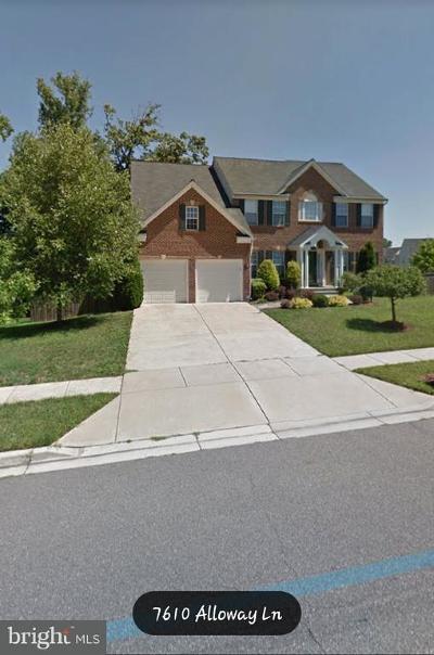 Beltsville Rental For Rent: 7610 Alloway Lane